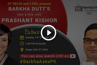 Barkha Dutt at IIT Delhi